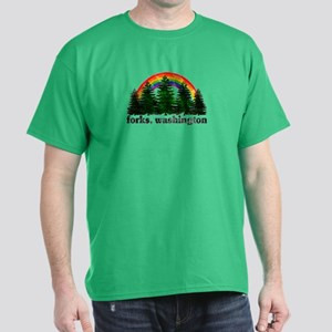 Forks, Washington Vintage Rai Dark T-Shirt