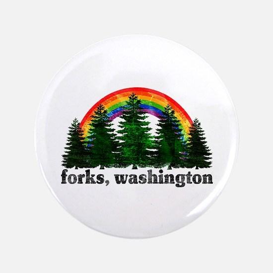 """Forks, Washington Vintage Rai 3.5"""" Button"""