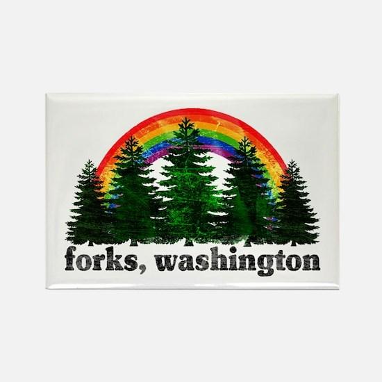 Forks, Washington Vintage Rai Rectangle Magnet