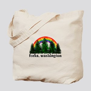 Forks, Washington Vintage Rai Tote Bag
