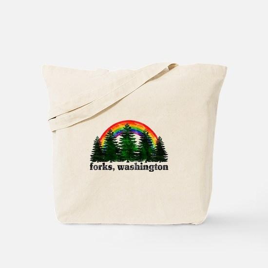 Forks, Washington Vintage Rai Tote Bag