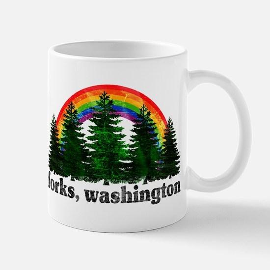 Forks, Washington Vintage Rai Mug