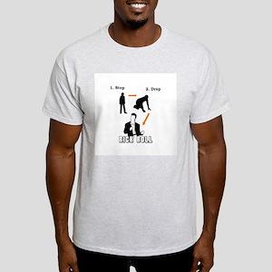 """""""Stop, Drop, Rick Roll"""" Light T-Shirt"""