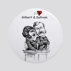 I Love G&S Holiday Ornament (round)