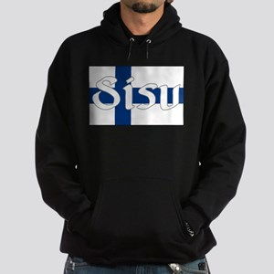 Finnish Sisu (Finnish Flag) Hoodie (dark)