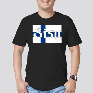 Finnish Sisu (Finnish Flag) Men's Fitted T-Shirt (