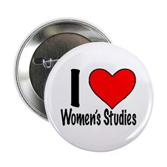 "I heart women's studies 2.25"" Button (100 pac"