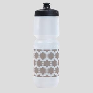 Hexagram Pattern: Beige Sports Bottle