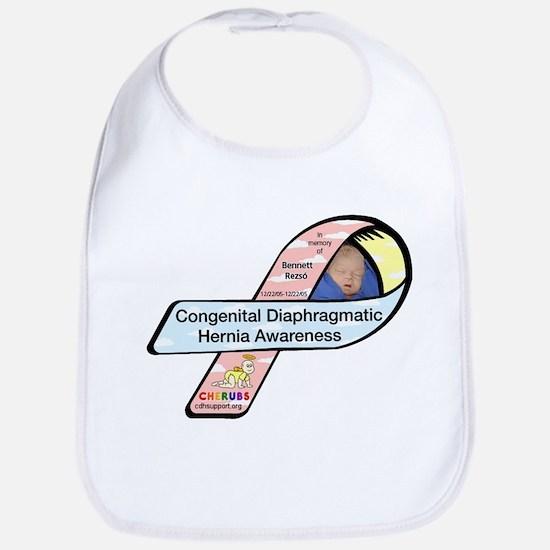 Bennet Rezso CDH Awareness Ribbon Bib