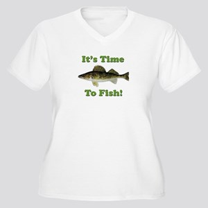 "Genuine Walleye ""It's Time to Fish"" Women's Plus S"