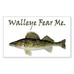 Walleye Fear Me Rectangle Sticker 50 pk)