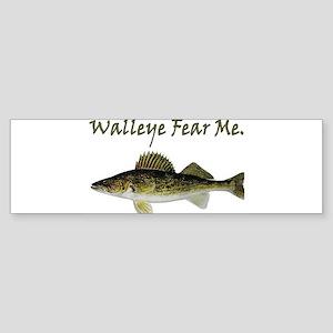 Walleye Fear Me Bumper Sticker