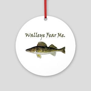 Walleye Fear Me Ornament (Round)