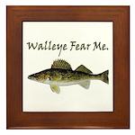 Walleye Fear Me Framed Tile