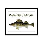 Walleye Fear Me Framed Panel Print