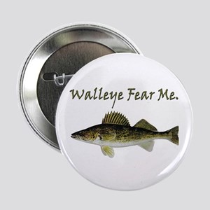"Walleye Fear Me 2.25"" Button"