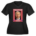 Traitor Joe Women's Plus Size V-Neck Dark T-Shirt