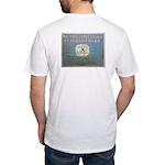 Keys Battery Flag Fitted T-Shirt