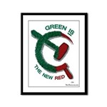 Green is the New Red Framed Panel Print
