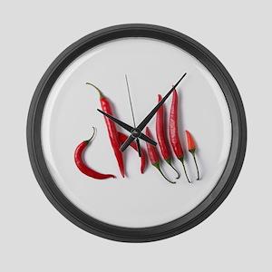 Hot Chilli Large Wall Clock