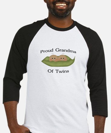 Proud Grandma Of Twins Baseball Jersey