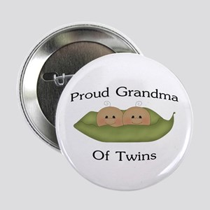 "Proud Grandma Of Twins 2.25"" Button"