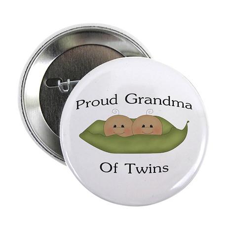 "Proud Grandma Of Twins 2.25"" Button"
