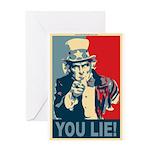 You Lie! Greeting Card