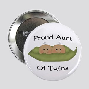 """Proud Aunt Of Twins 2.25"""" Button"""