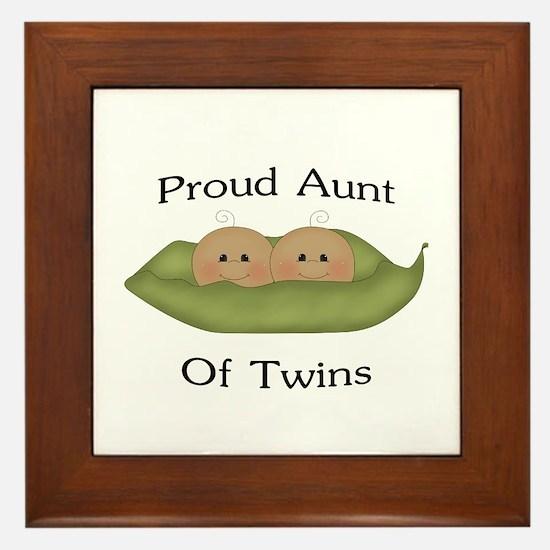 Proud Aunt Of Twins Framed Tile