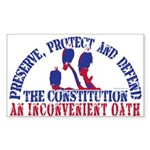 Defend the Constitution Rectangle Sticker