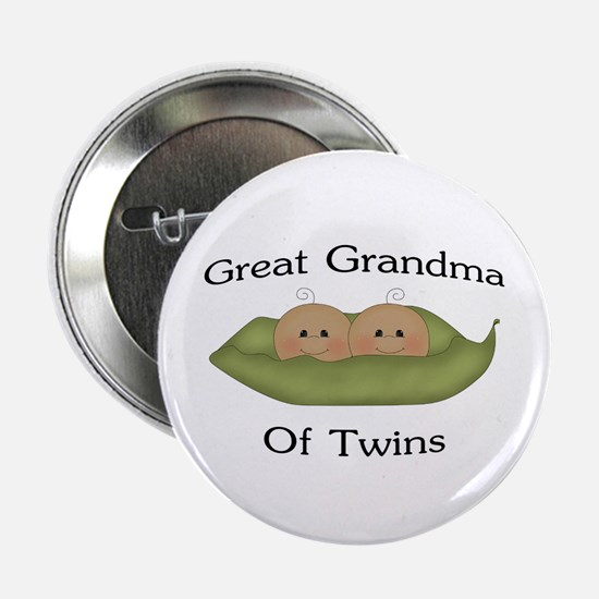 "Great Grandma Of Twins 2.25"" Button"