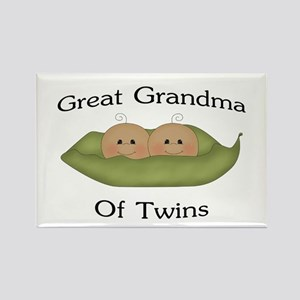Great Grandma Of Twins Rectangle Magnet