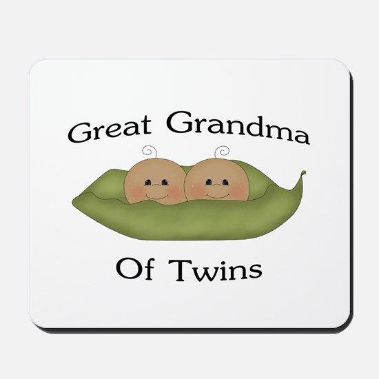 Great Grandma Of Twins Mousepad