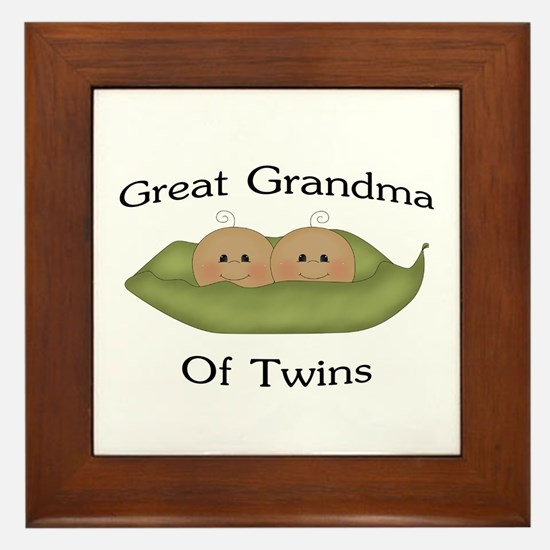 Great Grandma Of Twins Framed Tile