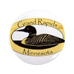 """Grand Rapids Loon 3.5"""" Button (100 pack)"""