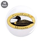 """Grand Rapids Loon 3.5"""" Button (10 Pack)"""
