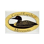 Grand Rapids Loon Rectangle Magnet