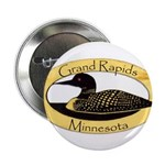 """Grand Rapids Loon 2.25"""" Button (10 pack)"""