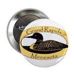 """Grand Rapids Loon 2.25"""" Button"""