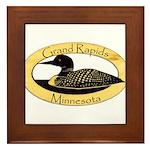 Grand Rapids Loon Framed Tile