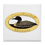 Grand Rapids Loon Tile Coaster