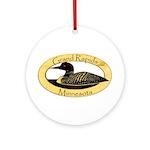 Grand Rapids Loon Ornament (round)