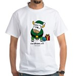 Christmoos Elf White T-Shirt