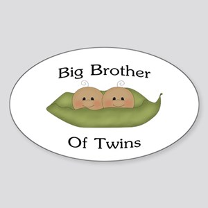 Big Brother Of Twins Oval Sticker