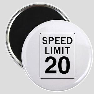 Speed Limit 20 Magnet
