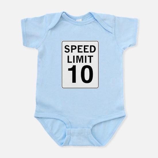 Speed Limit 10 Infant Bodysuit
