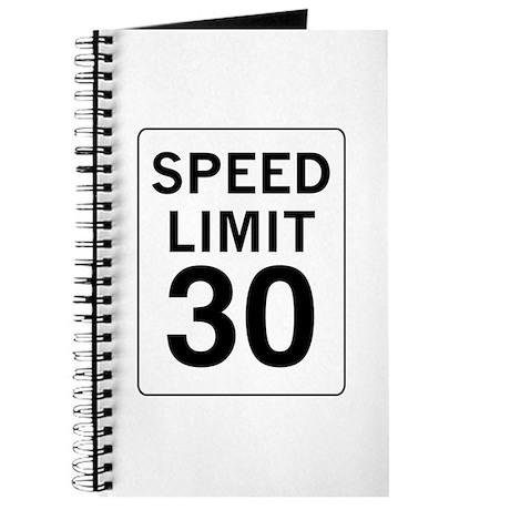 Speed Limit 30 Journal