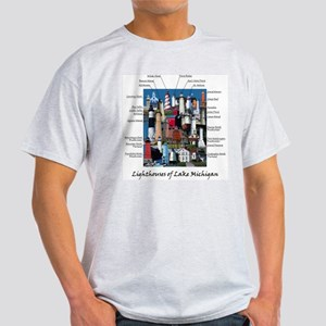 Lighthouses of Lake Michigan Light T-Shirt