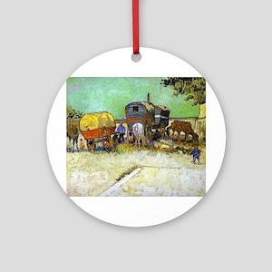 Gypsy Camp near Arles Ornament (Round)